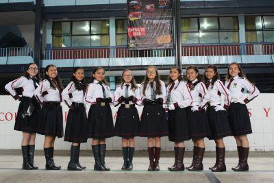 Felicitaciones a nuestra alumnas de escolta, como siempre dejando el Nombre de nuestro Colegio, muy en alto.
